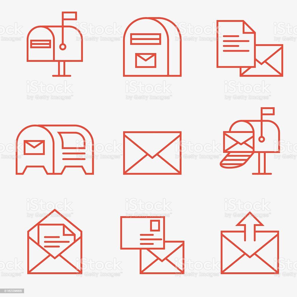 Post-icons – Vektorgrafik