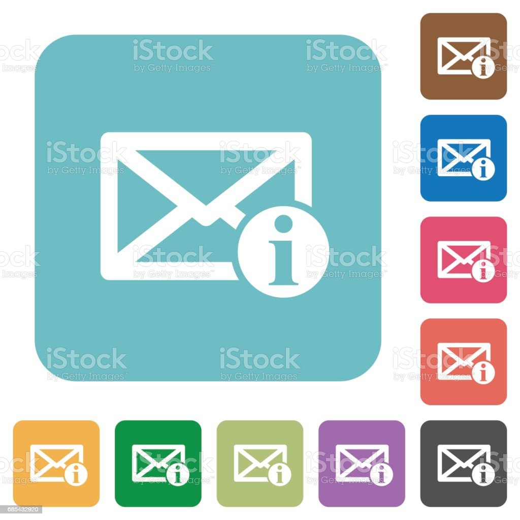 Mail information square flat icons mail information square flat icons - arte vetorial de stock e mais imagens de amarelo royalty-free