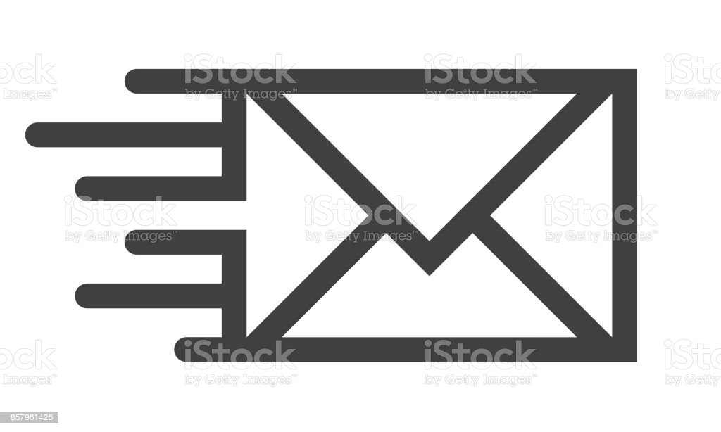 Mail line icon vector art illustration