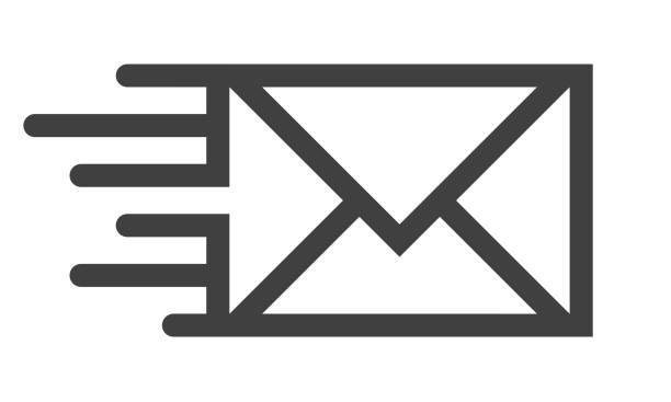 mail line icon - email icon stock illustrations, clip art, cartoons, & icons