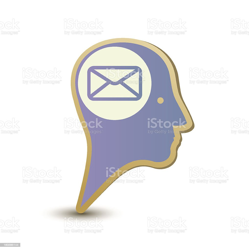 Mail man. Label sticker. Modern concept royalty-free stock vector art
