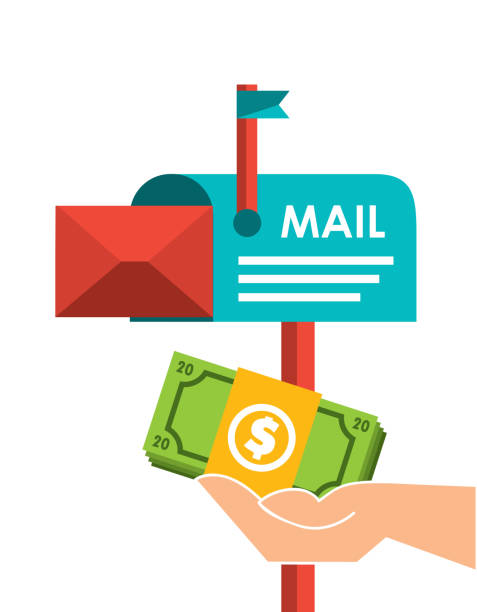 mail marketing design vector art illustration