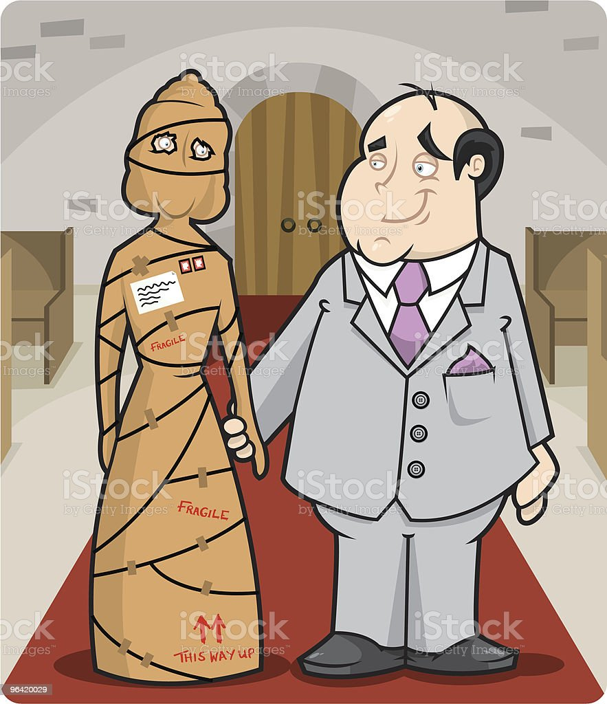 Mail Order Bride vector art illustration