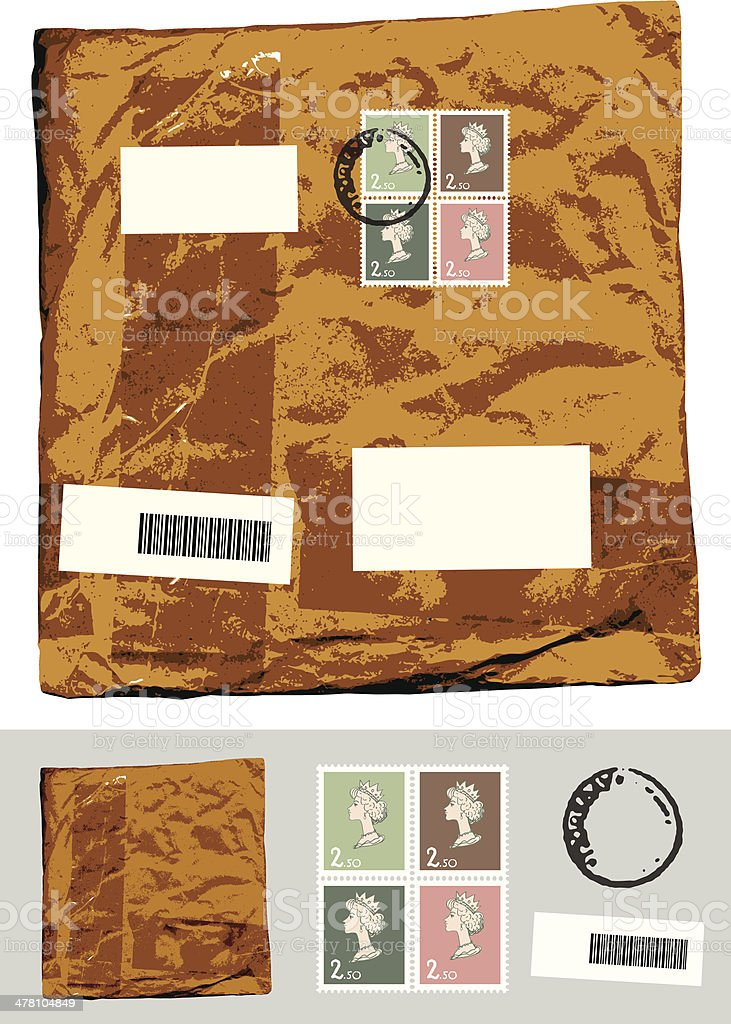 Mail parcel. royalty-free mail parcel stock vector art & more images of blank