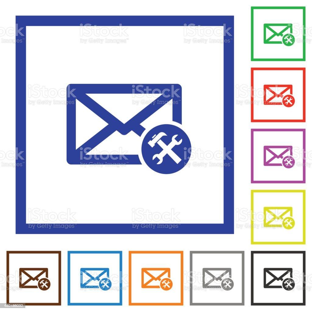 Tercihler düz çerçeveli simgeler posta royalty-free tercihler düz çerçeveli simgeler posta stok vektör sanatı & basitlik'nin daha fazla görseli