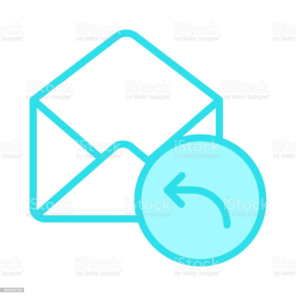 Mail Reverse Colour Line Icon Stock Vector Art & More Images of ...