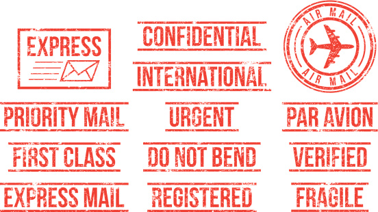 Mail - rubber stamps