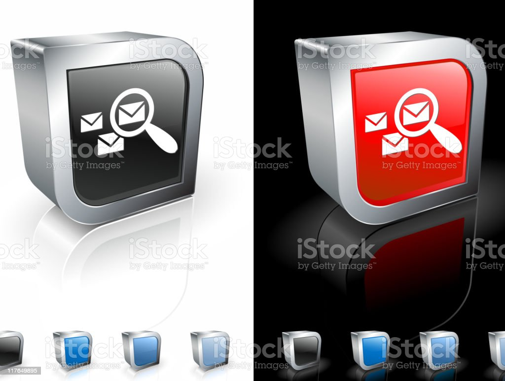 mail search 3D royalty free vector art royalty-free stock vector art