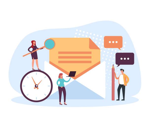 Mail spam electronic service envelope concept. Vector flat cartoon graphic design illustration vector art illustration