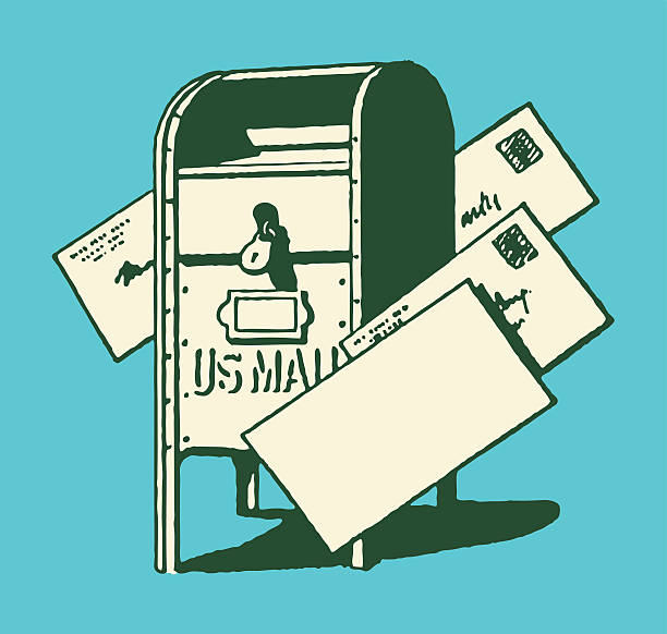 postbox и буквы - postal worker stock illustrations