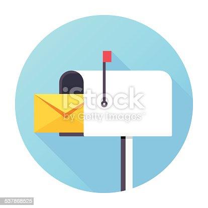 Flat & Long Shadow, Mailbox Icon