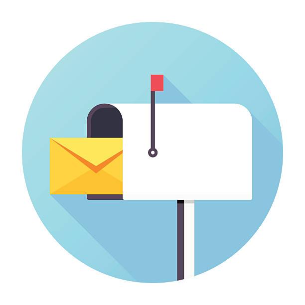 stockillustraties, clipart, cartoons en iconen met mailbox icon - versturen