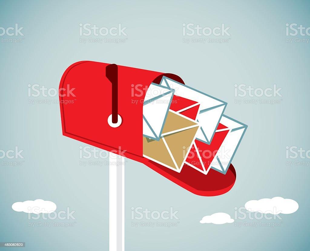 Mailbox vector art illustration