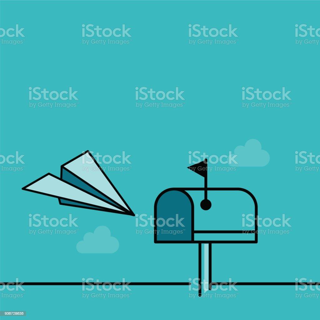 Briefkasten  – Vektorgrafik