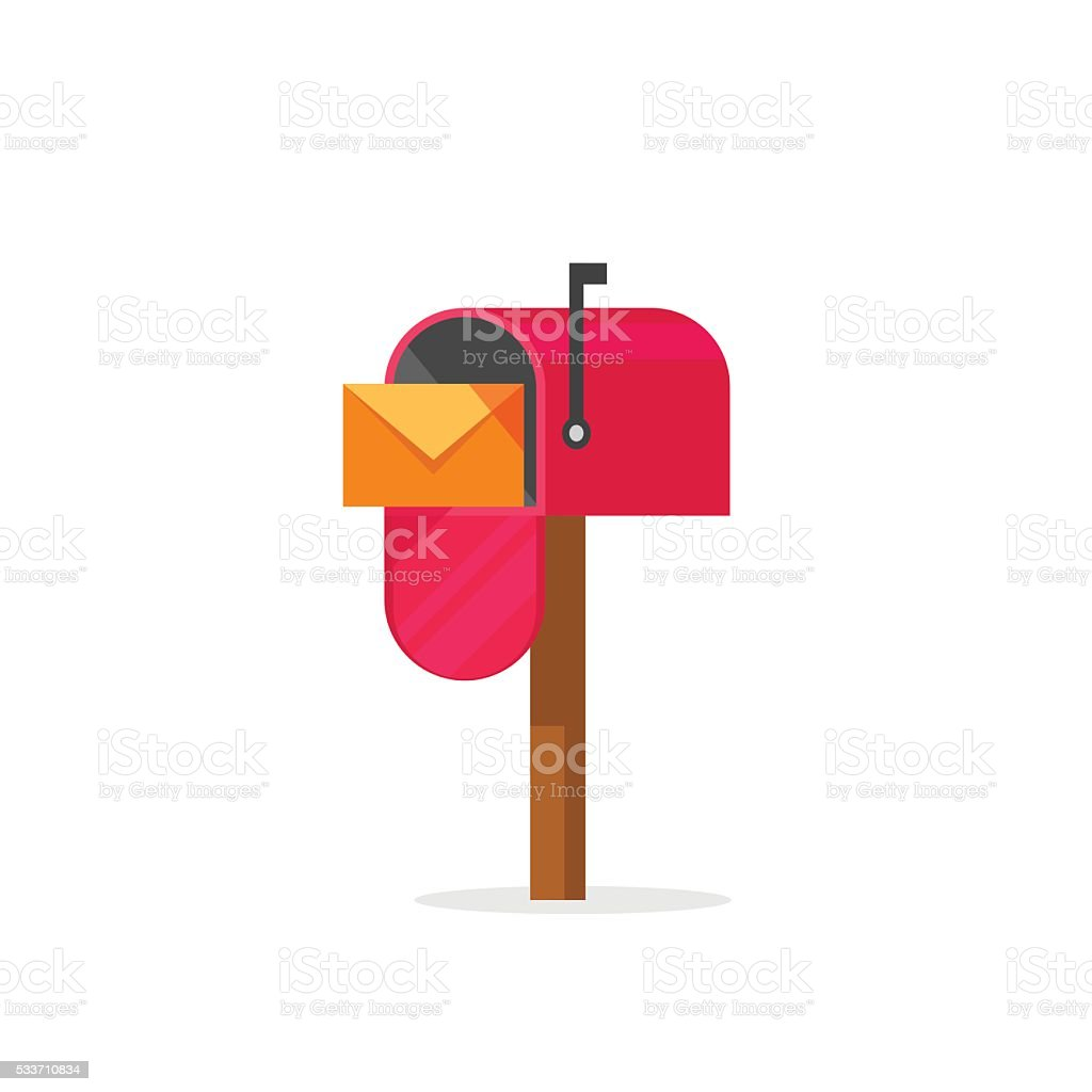 Mailbox vector illustration isolated, post office box vector art illustration