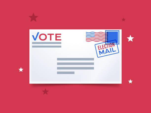 mail-in voting - ballot stock illustrations