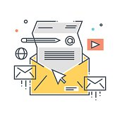 Mailing concept illustration