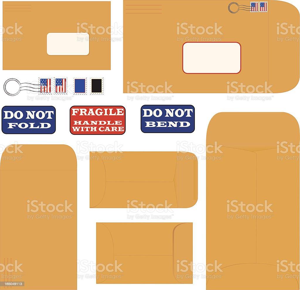 Mailing Envelopes royalty-free stock vector art
