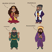 main characters from the book of esther