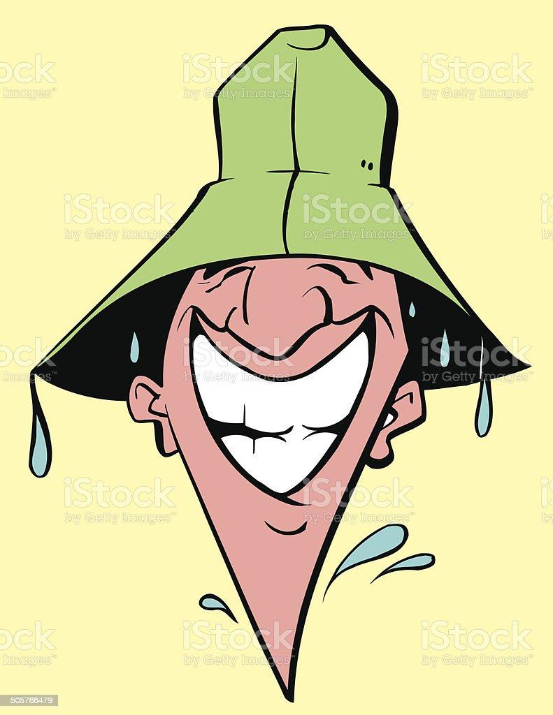Main In Rain Vector Cartoon Clipart Design Stock Illustration Download Image Now Istock