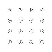 Main outline icon set 06