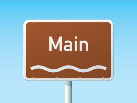 Main River German Road Sign