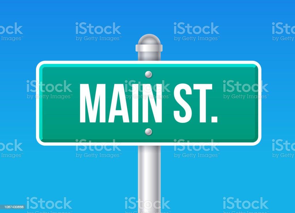 Main Street Zeichen – Vektorgrafik