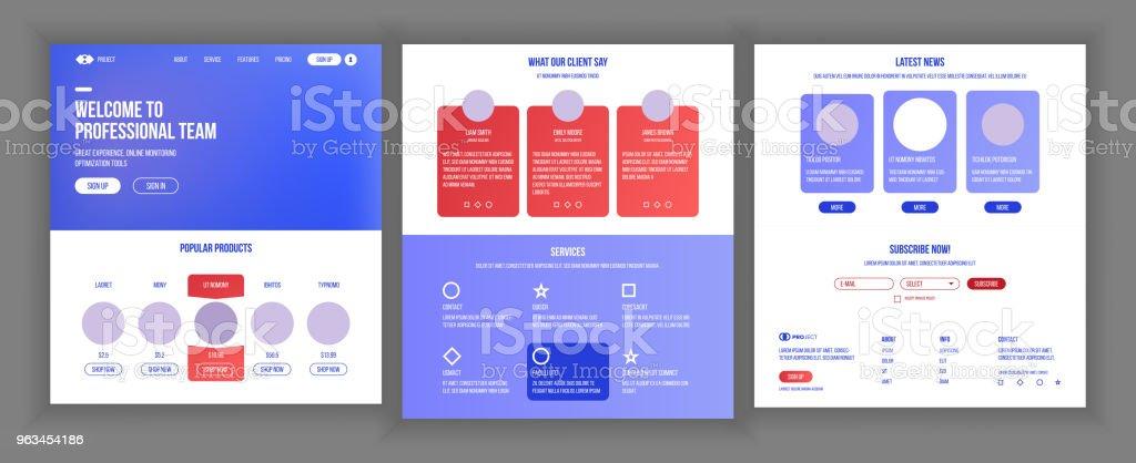 Main Web Page Design Vector Website Business Screen Landing Template