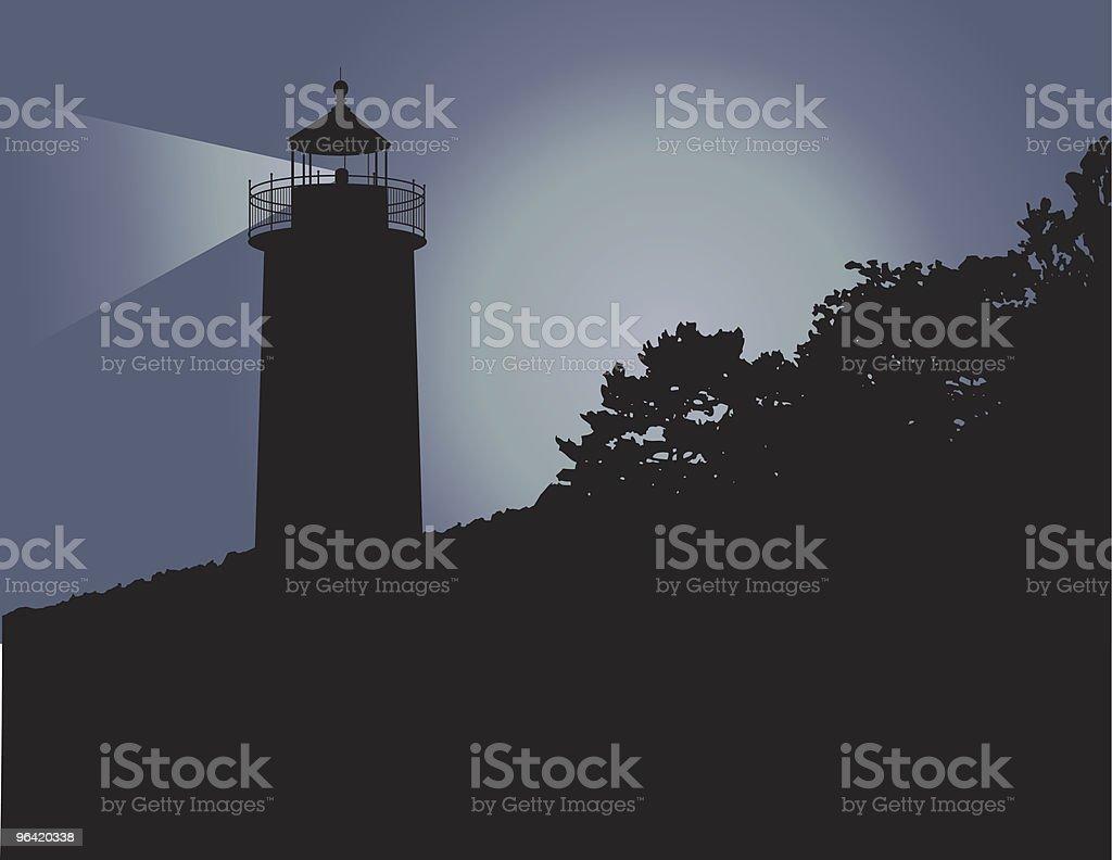 Maine Lighthouse royalty-free stock vector art