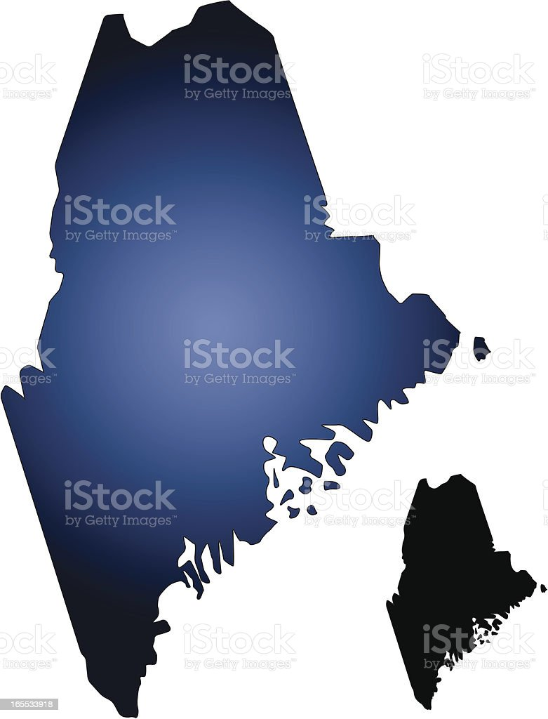 Maine State Map royalty-free stock vector art
