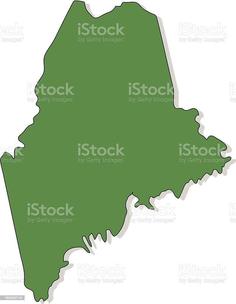 Maine royalty-free maine stock vector art & more images of country - geographic area
