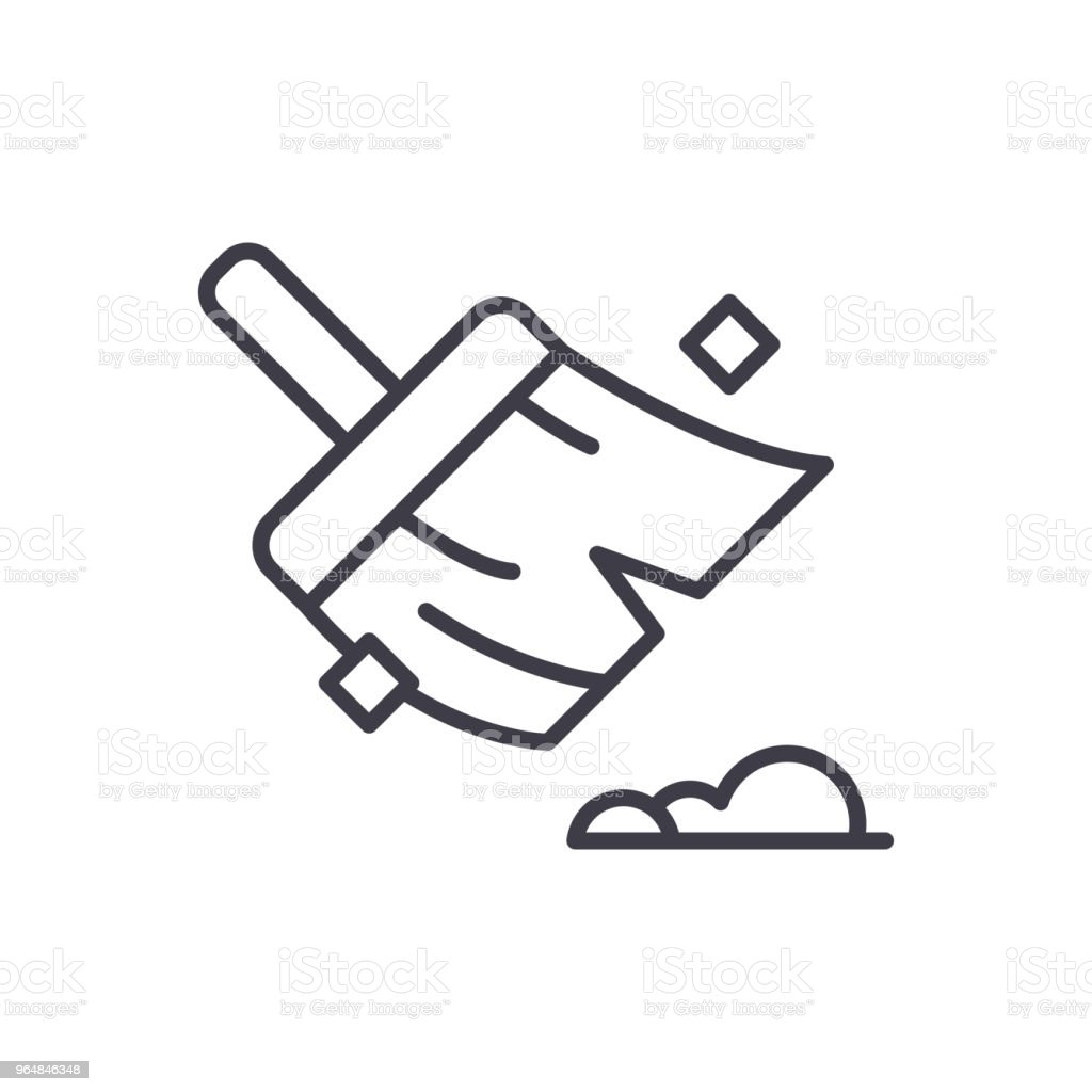 Maintaining cleanliness black icon concept. Maintaining cleanliness flat  vector symbol, sign, illustration. royalty-free maintaining cleanliness black icon concept maintaining cleanliness flat vector symbol sign illustration stock vector art & more images of apartment