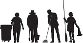 Maintenance People Silhouettes