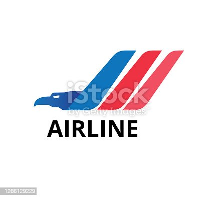 istock majestic eagle head with three wing flap for airline business vector graphic design template 1266129229