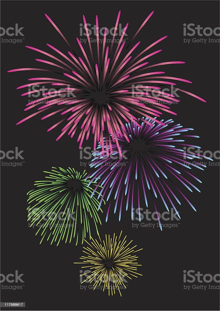 Majestic firework royalty-free stock vector art