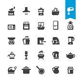 Major Kitchen Appliance vector icons