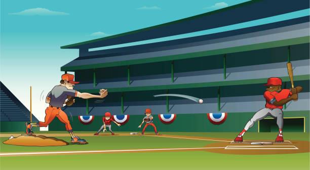 major leagues show - baseball stadium stock illustrations, clip art, cartoons, & icons