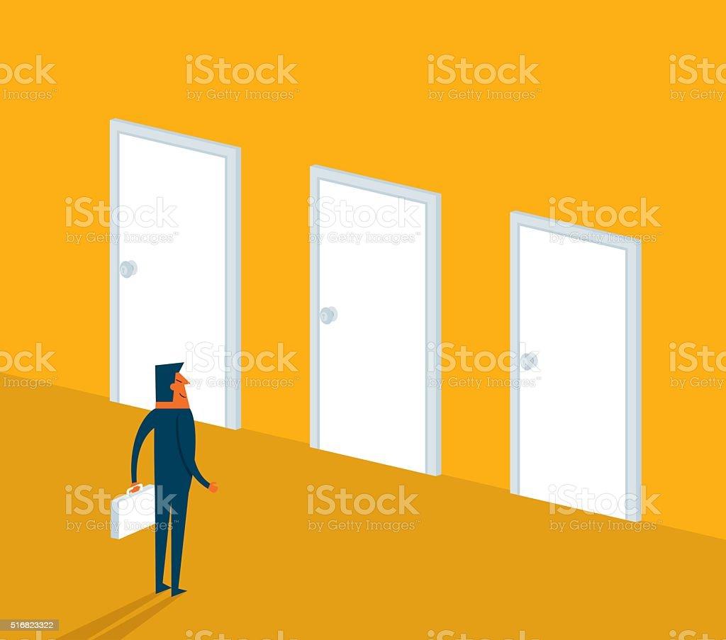 Make a choice vector art illustration