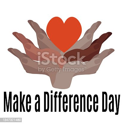 istock Make a Difference Day, idea for banner, poster, flyer or postcard 1347321480