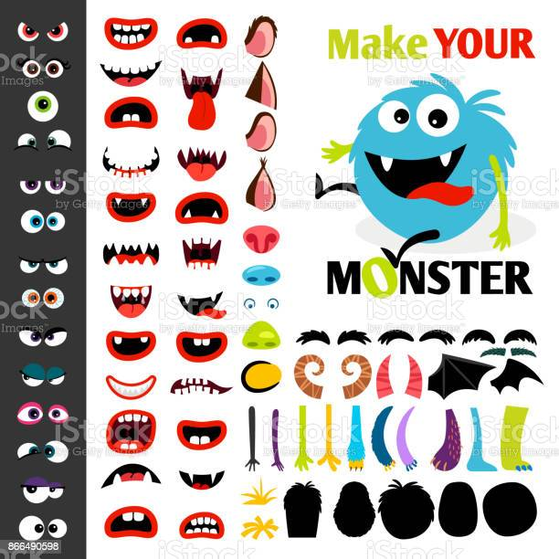 Make a monster icons set vector id866490598?b=1&k=6&m=866490598&s=612x612&h=homeqz2rotyg6ln5wttnqw7izhdmga5sooc2lhvsghm=