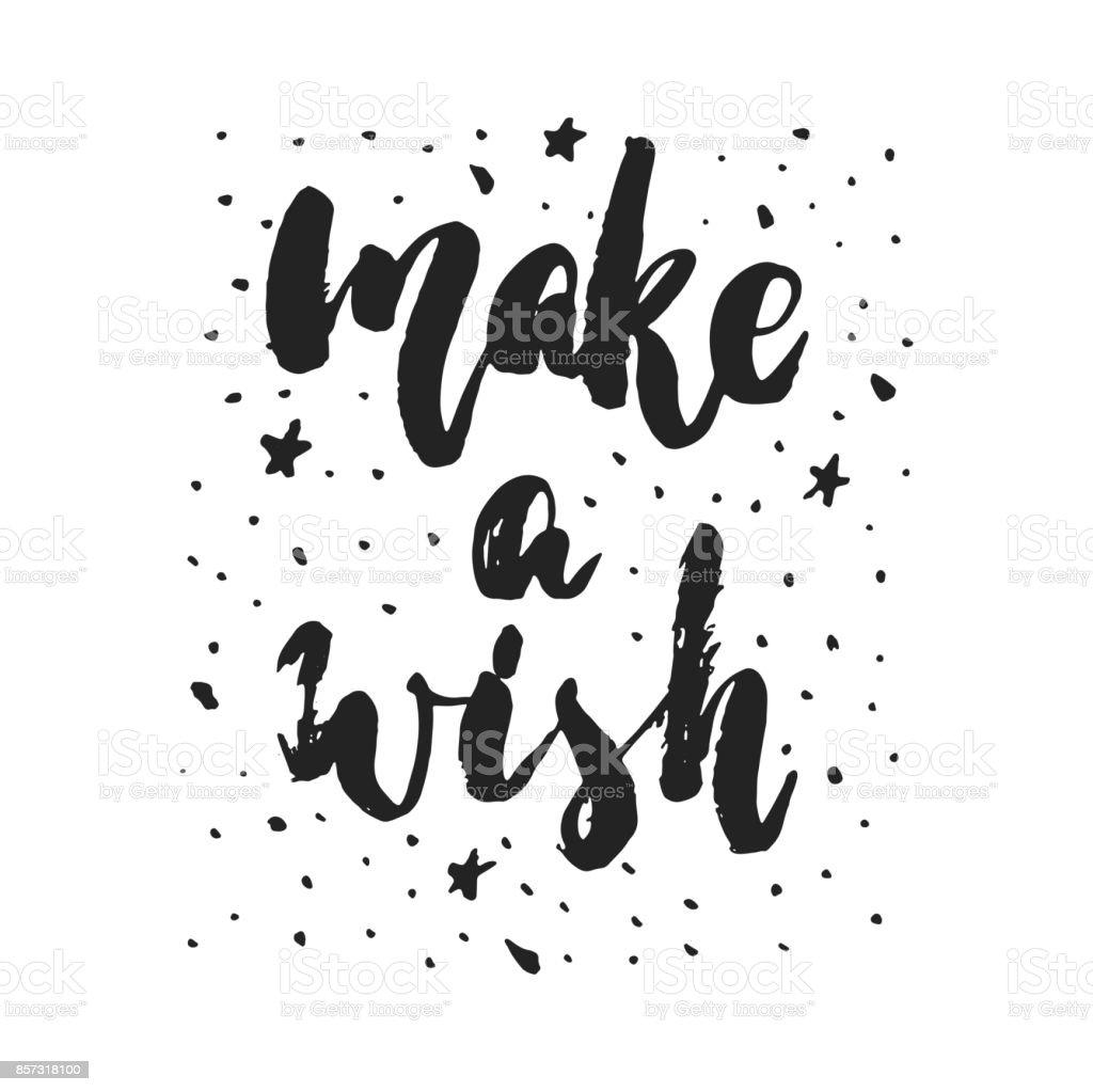 Make A Wish Hand Drawn Christmas And New Year Winter Holidays ...
