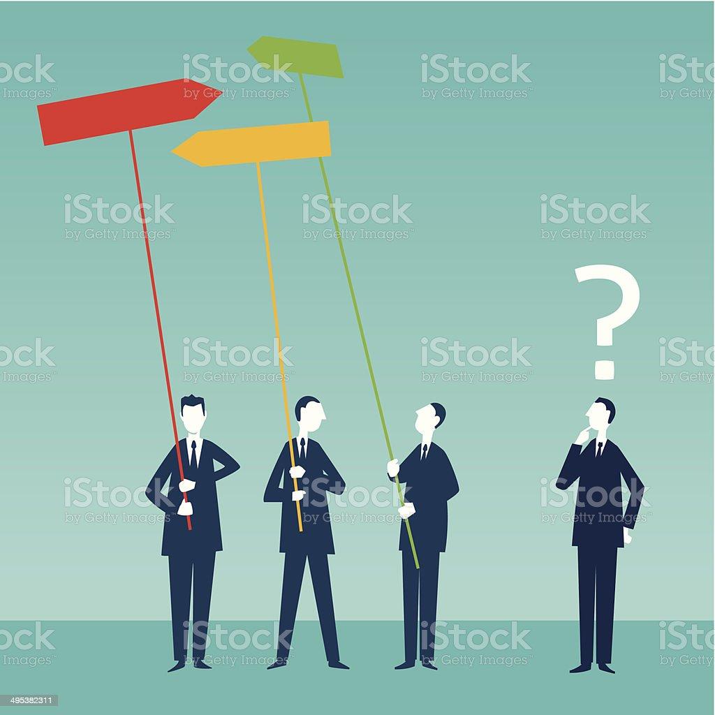 Make Better Decisions vector art illustration
