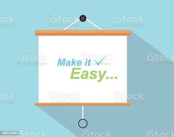 Make it easy quotes with checklist sign written on the vector id590245564?b=1&k=6&m=590245564&s=612x612&h=wz frtsthveshlqwbygtowkstgccntjyjkcxucs5u5s=