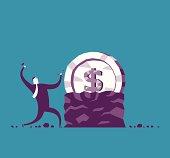 Vector illustration - Make money concept