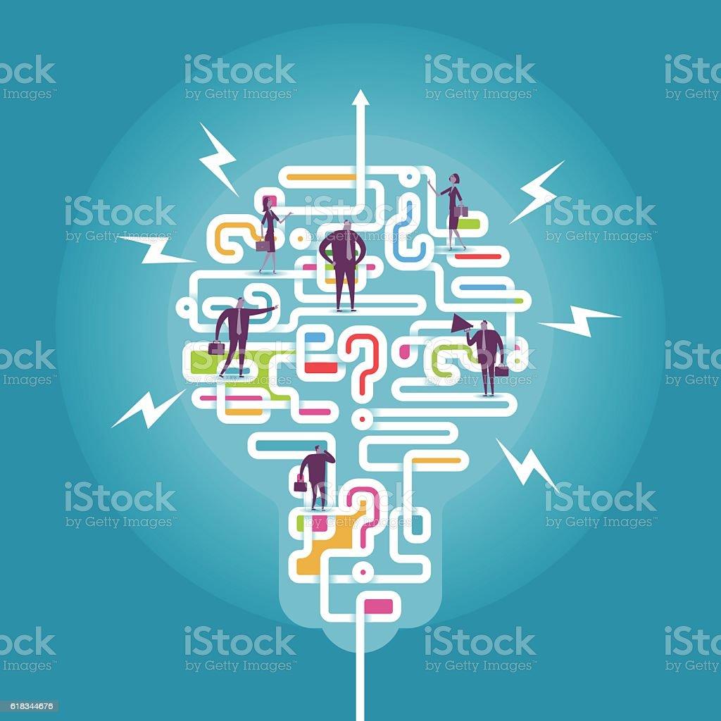 Make problem becom direction vector art illustration