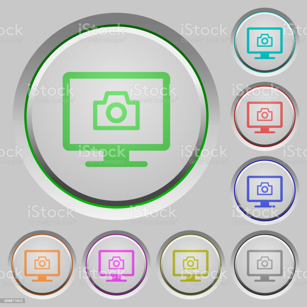 Make screenshot push buttons vector art illustration