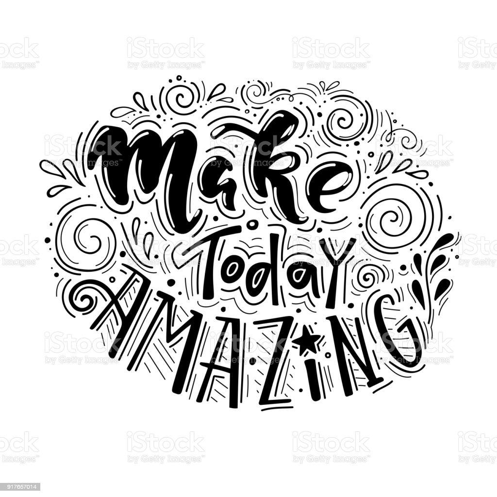Amazing Clip Art: Royalty Free Make Today Great Phrase Clip Art, Vector