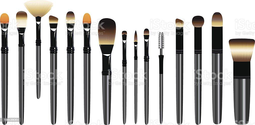 Make up Brush set vector art illustration