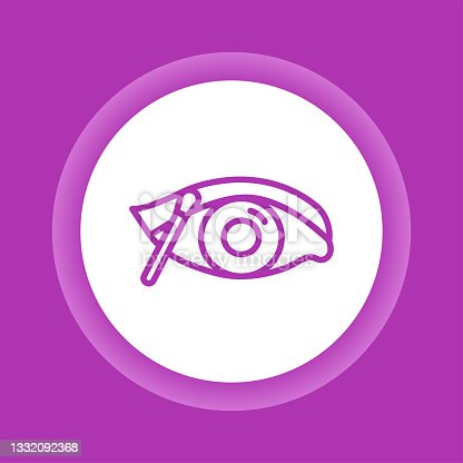 istock Make up eye color button icon. Professional visage. 1332092368