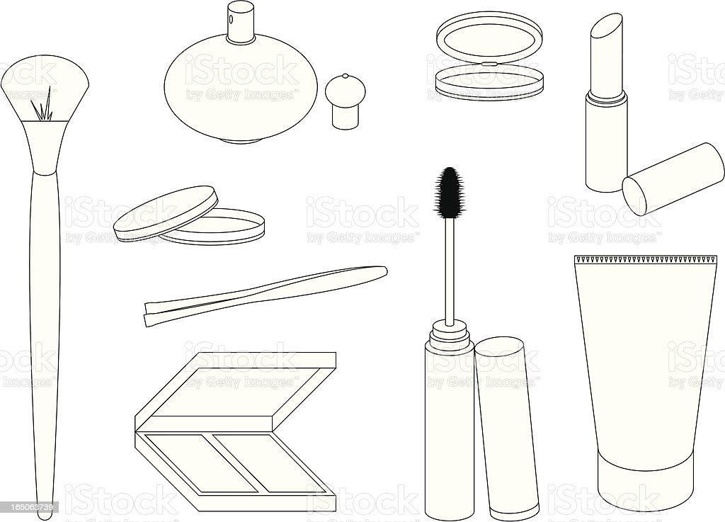 Make up packaging royalty-free stock vector art